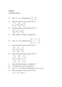 Exercícios de Álgebra Linear Capítulos 3 e 4