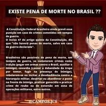 EXISTE PENA DE MORTE NO BRASIL?