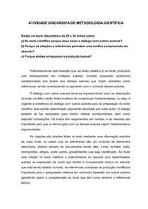 ATIVIDADE DISCURSIVA DE METODOLOGIA CIENTIFICA