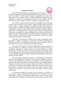 Resumo cirurgia pre-protetica - Tatyane Ferreira