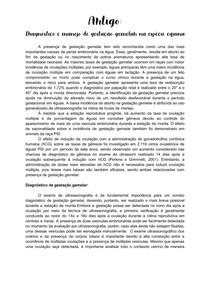 Artigo - Diagnóstico e manejo de gestação gemelar em equinos