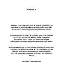 APOSTILA DE CALCULO II