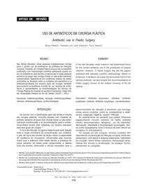 antimicrobianos em cirurgias plasticas