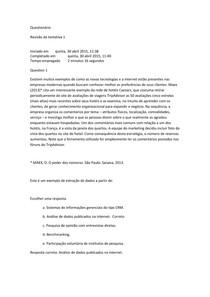 Questionário aula 06 - tecnologia e gestão 1