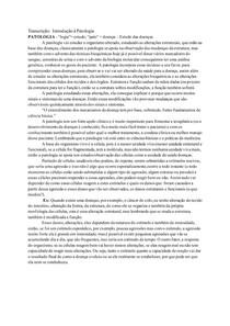 Transcrição: Introdução à Patologia
