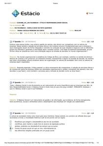AV Ética e Responsabilidade Social 2017.3