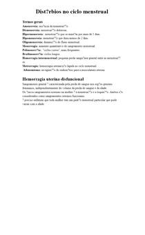 Distúrbios no ciclo menstrual