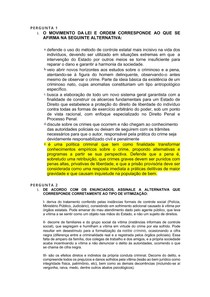 Atividade - VERTENTES MODERNAS DA CRIMINOLOGIA E POLÍTICA CRIMINAL