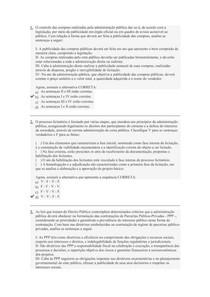 QUESTÕES OBJETIVAS DE PROCESSOS LICITATÓRIOS