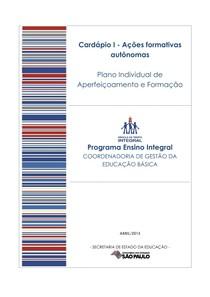 PIAF   Plano Individual de Aprimoramento e Formação