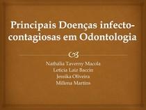 Principais Doenças Infecto-contagiosas na Odontologia