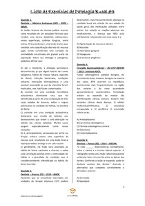 Lista de Exercícios de Patologia Bucal #3 - Odontologia Para Concursos