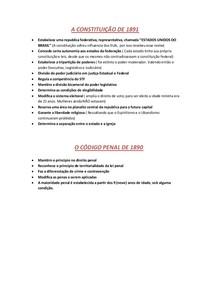 A CONSTITUIÇÃO DE 1891 E CÓDIGO PENAL DE 1890