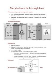 11. Metabolismo da hemoglobina