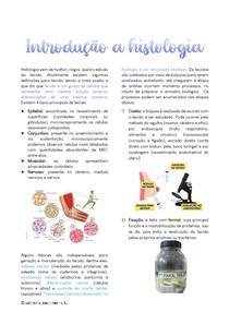 Introdução a histologia