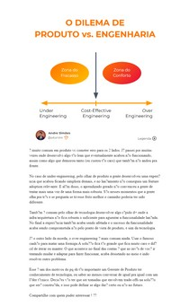 O Dilema de Produto vs. Engenharia