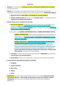 Memórias - fisiologia