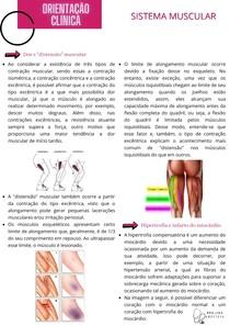 Orientação Clínica - Sistema Muscular