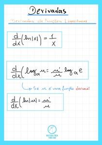 Derivadas Especiais- Derivada de funções Logarítmicas