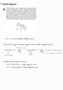 [Resolvida e explicada]Lista de Exercícios Jewett - Lei de Biosavart e  Força entre condutores