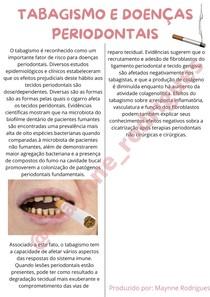 Tabagismo e Doença Periodontal