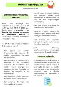 RESUMO - TRATAMENTOS EM PSIQUIATRIA