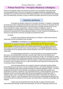 PRÓTESE FIXA - PRINCÍPIOS MECANICOS E BIOLOGICOS