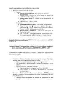 Material de Apoio 09 - Obrigações Compostas [Cumulativa + Alternativa]