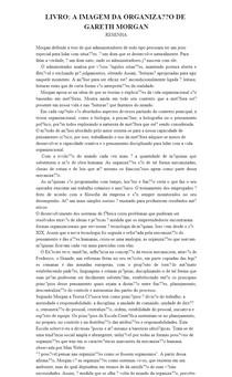 A IMAGEM DA ORGANIZAÇÃO DE GARETH MORGAN - Resenha