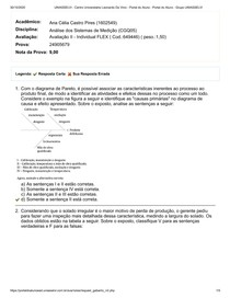 Avaliação II - Análise dos Sistemas de Medição