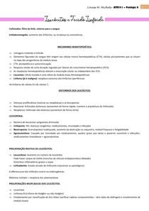 PROVA 1 - DOENÇAS DE LEUCÓCITOS, LINFONODOS, BAÇO E TIMO