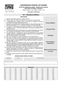 Prova Residência Médica - Acesso Direto - UFPR 2014