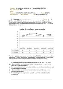 AV Análise Estatística