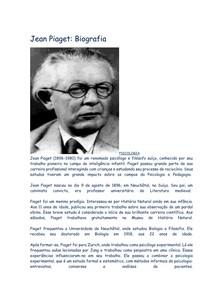 b79d90c7d64 Jean Piaget Biografia - Psicologia Contrutvista