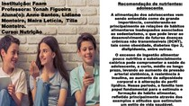 Recomendação nutricional para o adolescente