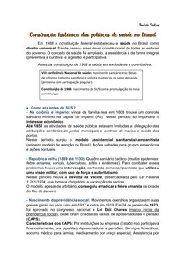 Construção histórica das políticas de saúde no Brasil