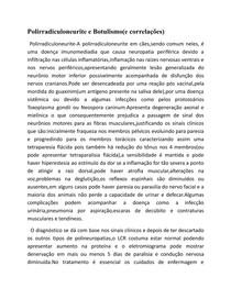 polirradiculoneurite/botulismo/correlações