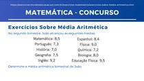 Matemática - Média Aritmética