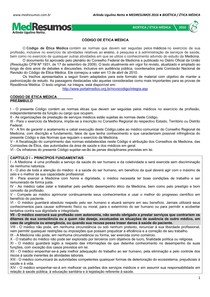 MEDRESUMOS 2016 - BIOÉTICA 14 - Código de Ética Médica