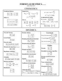 fórmulas cinemática e dinâmica