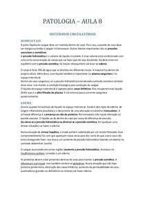 PATOLOGIA DISTÚRBIOS CIRCULATÓRIOS
