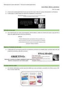 5 - Obturação dos canais radiculares