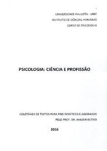 Apostila - Psicologia Ciência e Profissão