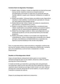Resumo NP1 Psicodiagnóstico UNIP