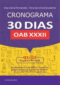 cronograma 30 dias OAB