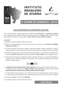 Exame IBA 2014-1
