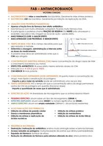 FARMACOLOGIA - ANTIMICROBIANOS/ANTIBIÓTICOS