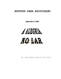 A ALEGRIA NO LAR