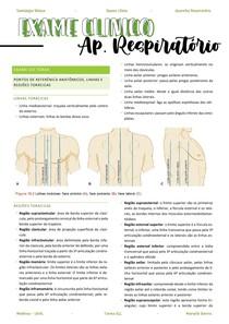 Resumo aparelho respiratório - exame físico