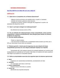 Sistemas Operacionais 1 -   resolução - P1